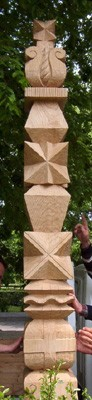 Kopjafa a Ceglédi Református Nagytemplom kertjében